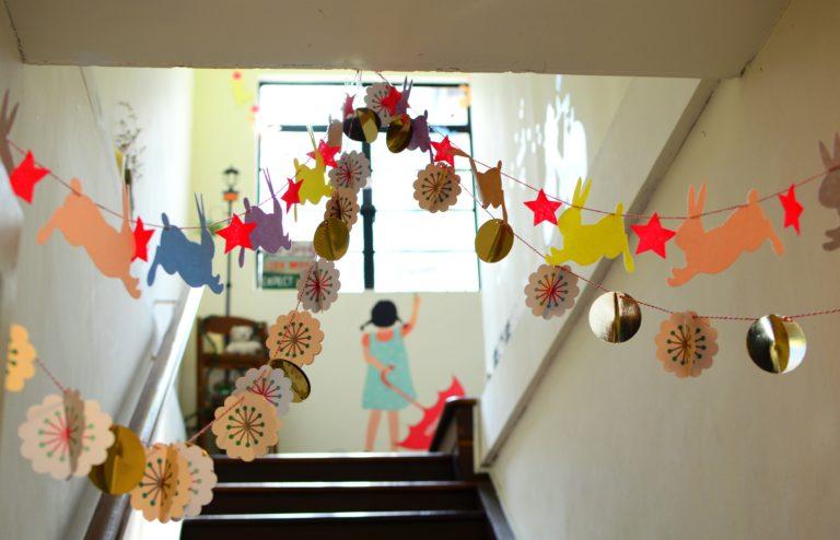Stairway in school